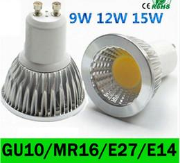 Canada ce ul saa Dimmable E27 E14 GU10 MR16 a mené les lumières de torchis 9W 12W 15W a mené la lampe CA 110-240V / 12V d'ampoules de tache Offre