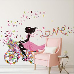Wholesale 3d Fairy Stickers - Magical Fairies Lulu Flower Angle Wall Sticker Wall Decals Wall Decor Wallpaper for Kids Children Room Decoration
