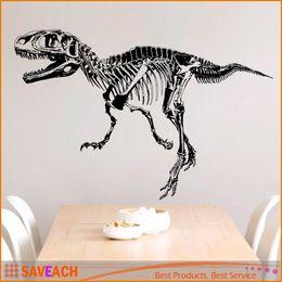 Wholesale Boys Room Wall Decor - Black Creative Dinosaur Skeleton Wall Stick, Dinosaurs Wall Stickers Living Room Bedroom Adornment For Kids Boy Room HOME Decor