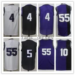 Wholesale Red Foxes - Men Basketball Retro kingz #4 WEBBER #5 FOX #10 BIBBY #55 WILLIAMS Black Purple White Throwback Jerseys Short With Player Name
