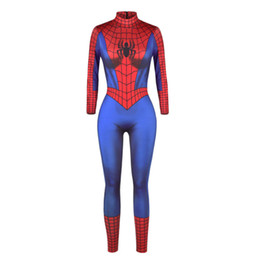 Wholesale Siamese Pants - Women's Halloween, Spiderman, digital print, Siamese pants, sexy Cosplay dresses