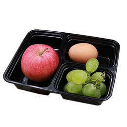 Wholesale Compartment Lunch Containers - 3 Compartments Microwave Food Storage Disposable Meal Prep Containers Lids Box Lunch Box Tray with Cover Portion Control WN005