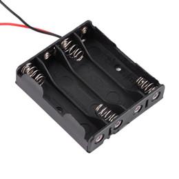 5 pcs Noir 3A En Plastique De Stockage de la Batterie Cas de la Caisse de Cas pour 4 x AAA 4-AAA Batteries avec 6 '' Câble de Soudage de Fil de Connexion ? partir de fabricateur