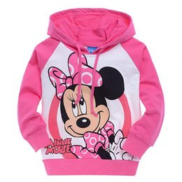 Wholesale Minnie Hooded - Minnie Mouse Toddler baby boys girls clothes Cotton Pink hoodies Coat Kids Spring Autumn Clothes for 4~10years clothing Free Shipping