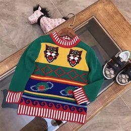 Wholesale Long Sleeve Sweater Kids - 2017 Winter Pullover Children Sweaters brand g tiger Long Sleeve Outerwear O-neck Kids Knitwear 3-12Y