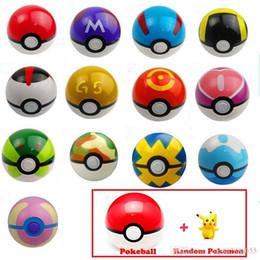 Wholesale Classic Toys Wholesale - 13pcs lot Poke Ball 13Pcs Pokeball + 13pcs Free Random Action Figures Classic Anime Pikachu Super Master Ball Toys