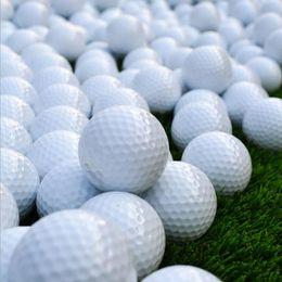 neuheit golfbälle Rabatt Kostenloser Versand Weiß Golf Spiel Sporttraining Spiel Praxis Gummiball Doppelschichten High Grade Golfbälle