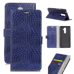 Wholesale Lg 4x Case - Lenovo Wallet Card Slot Phone Cases P2 K10 Crocodile print Back Cover for iphone 8 7 6 ONE PLUS 3T 3 5 X Redmi Note 4a 4x LG Moto G5 OPP Bag