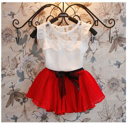 Wholesale Zebra Girl Skirts - Lace virgin suit foreign trade children's clothing wholesale The summer children's skirt suits summer cuhk children short sleeves