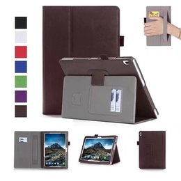 Wholesale Lenovo Tablet Smart Covers - 30pcs Luxury PU Leather Case Stand Cover for Lenovo TAB 4 10 TB-X304F TB-X304N TB-X304 Tablet with Card Slots Hand Strap + Free Gift