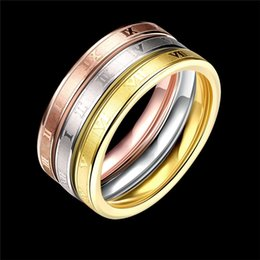 Wholesale Roman Engagement Rings - New Style Trends Fashion Modern Jewelry Roman Number Stainless Steel Rings Hight Quality Buy-direct-from-china Wholesale Price