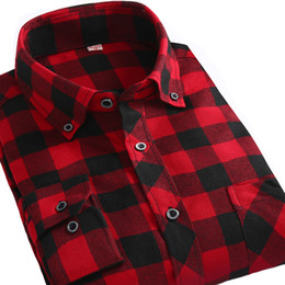 Wholesale Men Button Down Shirts Wholesale - Wholesale- Alimens Plaid Shirt Men Long Sleeve High Quality 100 Cotton Slim Fit Style Casual Shirts Button Down Flannel Shirts For Men