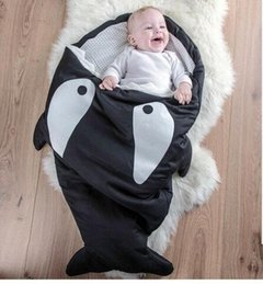 Wholesale Baby Blanket Sales - Shark Sleeping Bag Baby Newborns Sleeping Bag Winter Strollers Bed Swaddle Blanket Wrap Cute Bedding Baby Sleeping Bag for Xmas Gift Sale