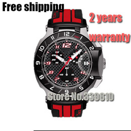 Wholesale Race Batteries - T048.417.27.207.01 Mens Fashion Sports Military Watches T048 Chronograph Mens Quartz Wristwatches Waterproof T-Race Watch Top Luxury Brand
