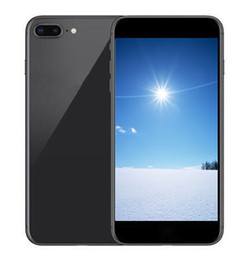 Wholesale Polish Glasses - Goophone i8 plus Android cellphone fingerprint 5.5inch MTK6580A octa core 1G 8G glass back cover Show 256GB unlocked phone