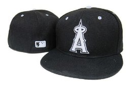 Wholesale New Mlb Hats - New Los Angeles Angels MLB Baseball Cap 3D Embroidery Logo LA of Anaheim Cooperstown Fitted Hats