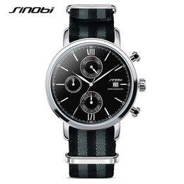 Wholesale Sport Watchband Quartz Wristwatch - SINOBI Men Sports Military Watches with NATO Nylon Watchband Male Chronograph Quartz Wristwatch Waterproof James Bond 007 Clock