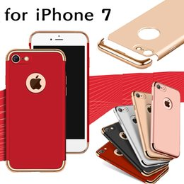 Wholesale Note Shock Proof Case - 3 in 1 Matte Frosted Plating Hybrid Slim Shock Proof Hard PC Armor Cover Case For iPhone X 8 7 6 6S Plus Samsung S8 Plus S7 Edge Note 8