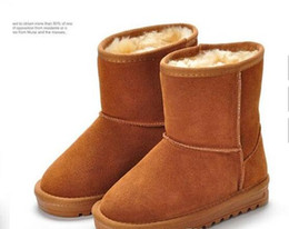 Wholesale Girls Brown Suede Boots - High Quality WGG 5281 Boys and girls Women's Classic tall Boots Womens Boot Snow boots Winter boots leather boot US SIZE 5---13