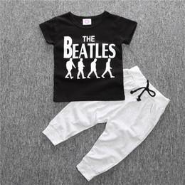 Wholesale Collar Baby T - Summer Baby Boy Kids Short Sleeve T-shirt Tops +Pants 2 Pcs Outfit Clothing Set Suit 4 S l