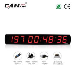 grande calendario Sconti [GANXIN] 4 pollici 9 cifre grande display a LED per interni calendario digitale giorno conto alla rovescia con timer da 999 giorni orologio da parete con telecomando
