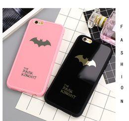 Wholesale apple batman - Dark Kinght Batman Phone Cover For iphone 6 6s 7 Plus Mirror Silicone Case For iphone 7 6 6s 8 Plus Phone Cases Shell
