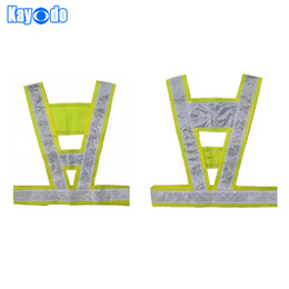 Wholesale Reflective Vest Working Clothes Provides High Visibility Day amp Night For Running Cycling Warning Safety Chaleco Reflectante