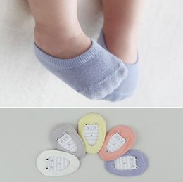 Wholesale Baby Socks For Boys - Baby socks boy and girl's non-slip boat short socks cotton material 4 colors for 0~4 Y