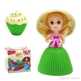 Wholesale Mini Doll Wholesale - Cupcake Scented Princess Doll Reversible Cake 12 Roles Debbie Lisa Etude Britney Kaelyn Jennie with 6 Flavors Magic Toys for Girls