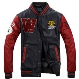 Простые куртки мужчины онлайн-Высокое качество мужчин Повседневный Классический Простой Прохладный дизайн Леттерман куртки унисекс Человек Varsity Jacket 4 цвета дизайнер S-3XL