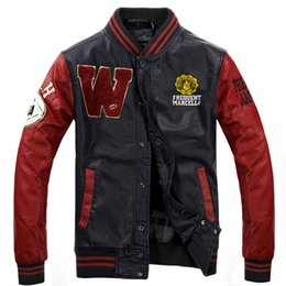 Wholesale Men Varsity Jackets Red - High Quality Men Casual Classic Simple Cool Design Letterman Jackets unisex Man Varsity Jacket 4 Colors Available designer S-3XL