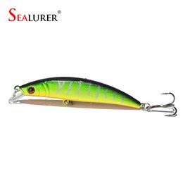 Wholesale Pike Minnow Bait - SEALURER 1pcs 8CM 8.2g Fishing Lures Pike Fishing Bait Minnow Bass Floating Perch Lure Fishing Tackle