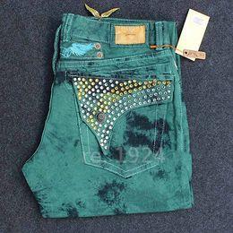 Wholesale Multi Keychain - 2016 new denim men ripped famous brand robins jeans men big size men's biker robin's jeans with keychain spark stone male