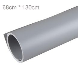 Wholesale Grey Background - 68 x 130cm Grey PVC Material Backgrounds Backdrop Anti-wrinkle for Photo Studio Photography Background Equipment