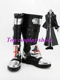 Wholesale Blood Cosplay - Wholesale-Freeshipping Anime Trinity Blood Abel Nightroad Cosplay Boots shoes Custom made for Halloween Christmas