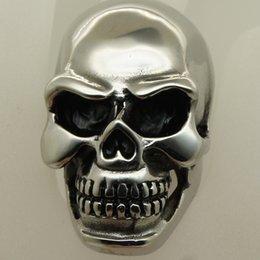 Wholesale Super Skull Rings - super big & heavey skull rocky biker 316L stainless steel ring