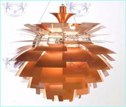 araña de lindsey adelman Rebajas Nuevo estilo europeo moderno y elegante simplicidad aluminio 40 cm Poul Henningsen PH alcachofa luz de techo lámpara colgante iluminación colgante
