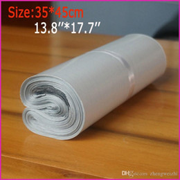 Wholesale White Poly Shipping Mailers - 2016 Free shipping 35*45 cm poly mailer mailing bags express bags courier bags express envelope Plastic Mailers Bag 100PCS bag white