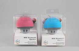 Wholesale Mashroom Speakers - Cartoon Mashroom Mini Bluetooth Speaker Portable Outdoor Subwoofers Loudspeaker For iphone tablet pc with Stand Holder and Sucker