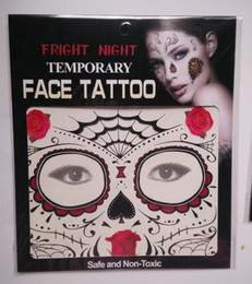 Wholesale Tattoo Dhl - New Festival Face Tattoos Face Temporary Tattoos Hallowmas Tattoos 9 Style Colors Best Quality Gift DHL shipping