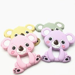 Wholesale Wholesale Teething Necklace Silicone - 5pc MIX Baby Silicone Koala Food Grade Teether Toy Teething Accessories Handmade DIY Nursing Necklace Pendant
