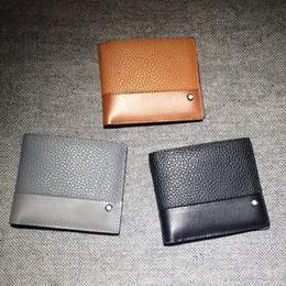 Wholesale Man Thin Wallet - 2016 New Summer Men's Genuine Leather Short Wallets Famous Brand Luxury Mens Bi-Fold Clutch Thin Purses Men Credit Card Holder Suit Wallet