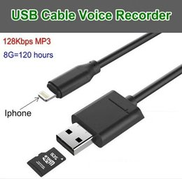 Wholesale Voice Cabling - 2 in 1 Digital Voice Recorder USB Charging Cable Sound Recorder Voice listener in Data cable Audio Recorder Y8 For IPhone & Android Mobile