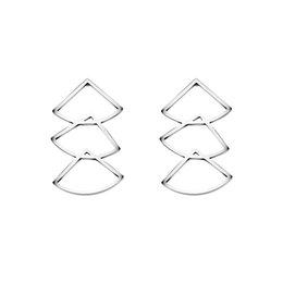 Wholesale Unique Pearl Gold Ring - GORGEOUS TALE Quality Fashion Jewelry Brand Asymmetry Unique Design Sector Drop Earring For Women Charm Gold Color Bijoux Femme