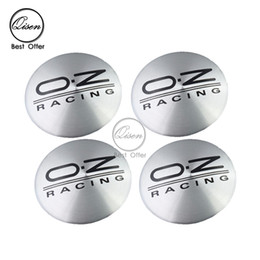 Wholesale Wholesale Chrome Accessories - 56.5mm 3D Car Badge Wheel Center Hub Cap Sticker Durable Logo Brand Emblem Car Accessory Anti Fade Wheel Decoration Fit For OZ BLACK