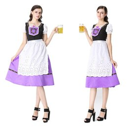 Wholesale Beer Maid Dress - Halloween Germany ding-dong serve beer festival clothing maid maid outfit Bavarian tradition clothing beer dress Club theme party dress