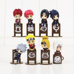 Wholesale Naruto Sasuke Figures - 8pcs lot Sasuke Kakashi Jiraiya Gaara Itachi Sasori Deidara Naruto PVC Figures Collectible Model Toy