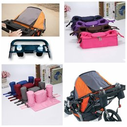 Wholesale Trays Cup Holders - Baby Stroller Hanging Bag Safe Console Tray Pram Bottle Cup Holder Bag By Cart Bottle Bags LJJO2846