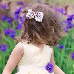 Wholesale Hair Ribbon Dot - 8 INCH Texas Size Hair Bows Baby Polka Dot New Designer Kid Grosgrain Ribbon Bows On Alligator Clip