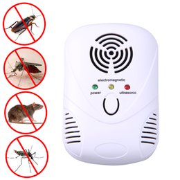 Wholesale Electronic Mosquito Repeller Killer Plug - 110-250V 6W Electronic Ultrasonic Mouse Killer Mouse Cockroach Trap Mosquito Repeller Insect Rats Spiders Control US EU Plug